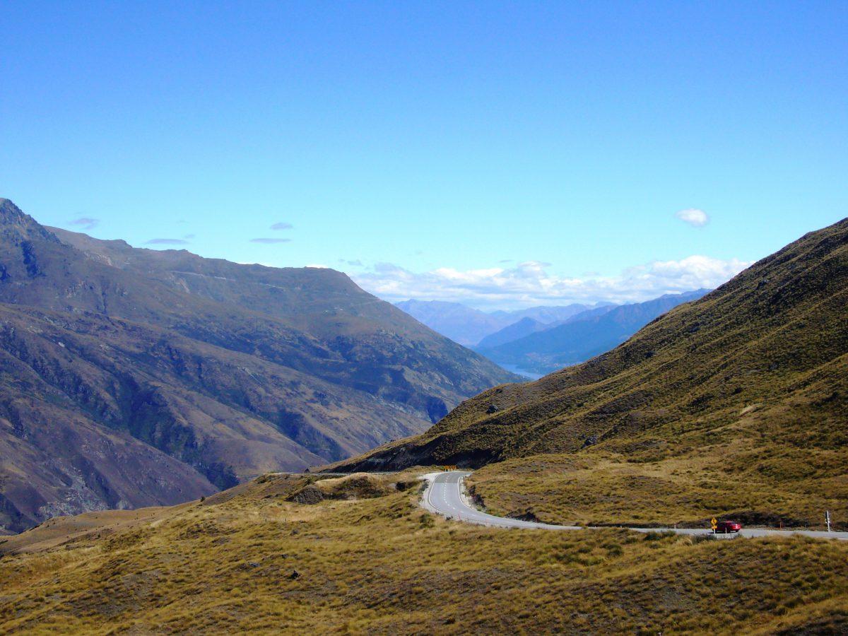 Motorradtouren Neuseeland Crown Range Road