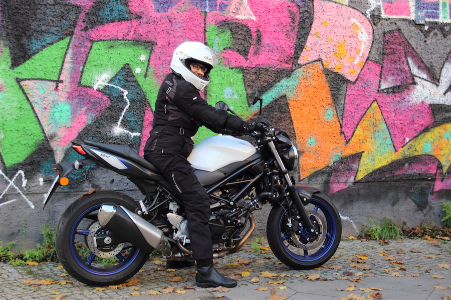 Sabine Suzuki SV 650 She is a Rider