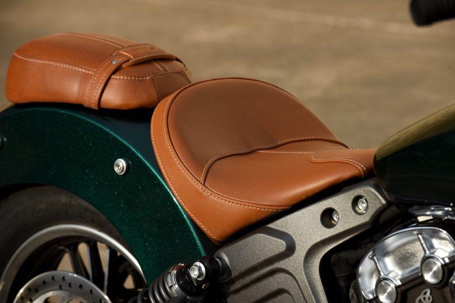 Scout Indian Motorrad Sattel Desert-Tan-Leder