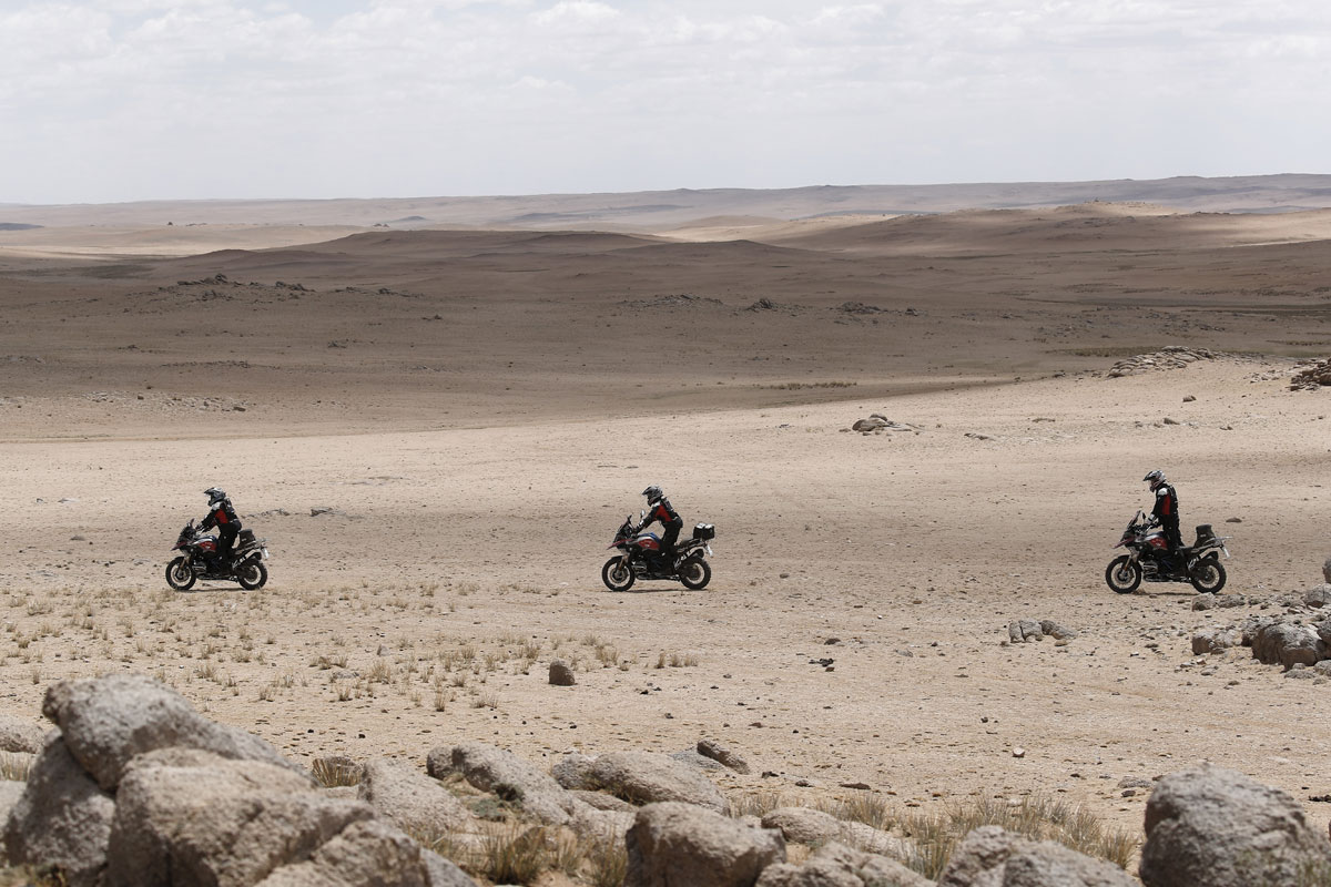 durch sand fahren-GS Trophy-Mongolei