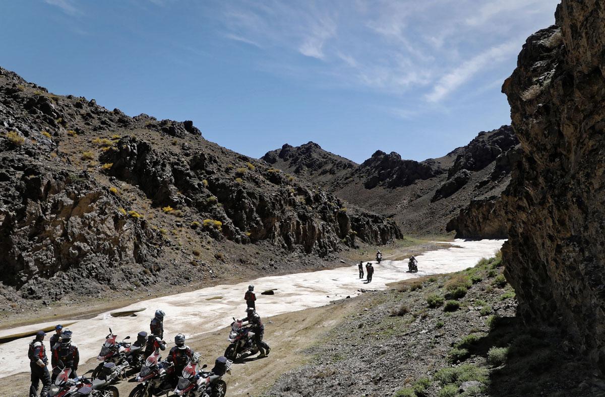 Wüste Gobi-Eis-GS Trophy-BMW-Motorrad-Mongolei