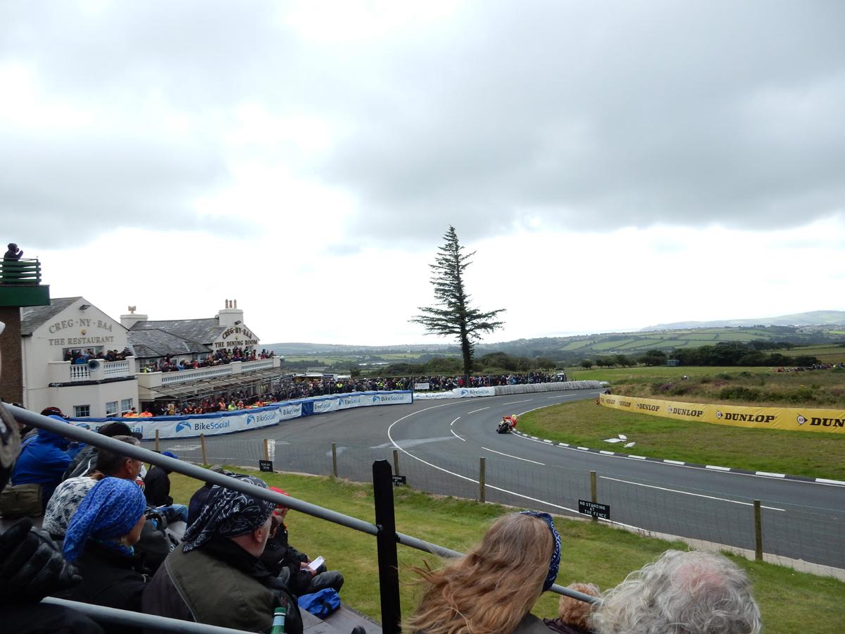 Isle of Man-TT-Straßenrennen-England-Tribühne