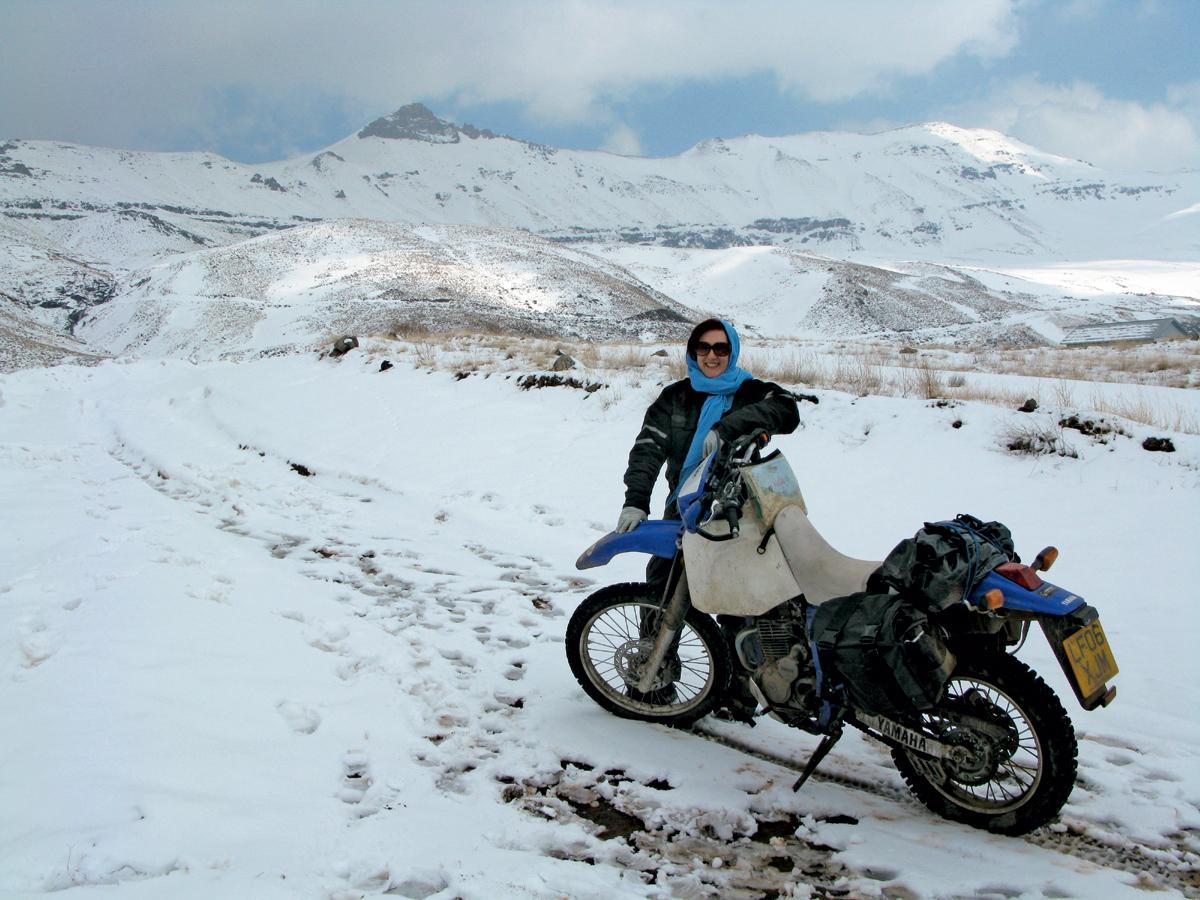 Lois Pryce-Yamaha-Alborz-Gebirge