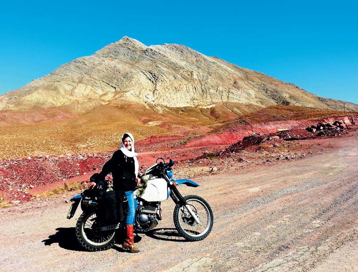 Lois Pryce-Iran-Motorrad-Yadz
