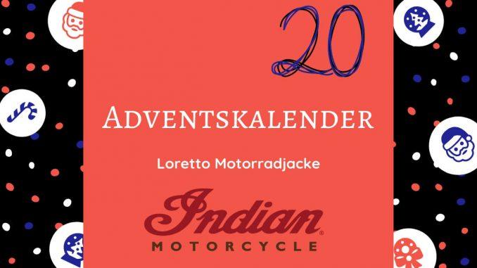 Gewinne eine Loretto Motorradjacke von Indian Motorcycles und fahre auf deinem Motorrad stylisch i die nächste Saison. Die Motorradjacke Loretto von Indian.