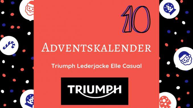 Gewinne eine Triumph Lederjacke Elle Casual. Der britische Motorradhersteller kann coole Bikes bauen und dich im coolen Biker-Look ausstatten.