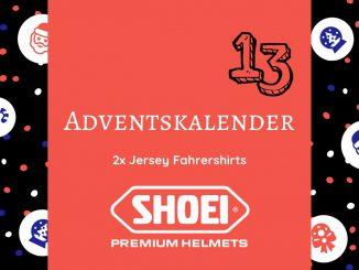 Gewinne zwei exklusive Jersey Fahrershirts von SHOEI im SHE is a RIDER Adventskalender. Die Shirts von SHOEI zum Motorradfahren oder in der Freizeit.