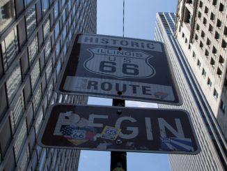 Route-66-Chicago-Strassenschild