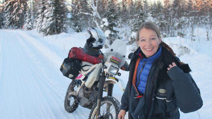 Silke-Neumann-Motorrad-Nordkapp-Eis-Schnee