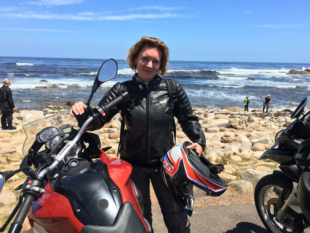 Sabine-Motorrad-BMW-Kap der guten Hoffnung-Suedafrika