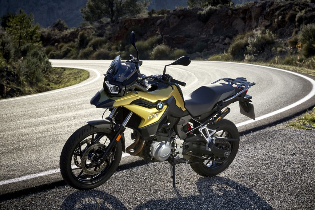 BMW F750GS in Gold