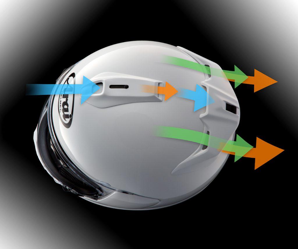 Belüftungssystem am Arai Chaser-X Integralhelm.