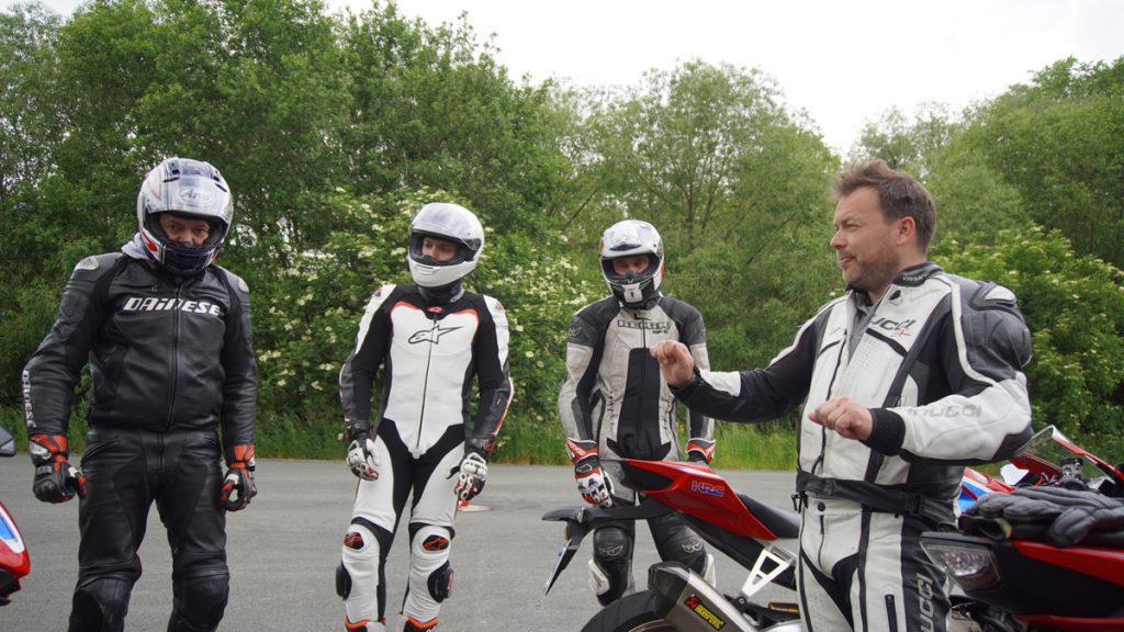 Honda Fireblade Training auf dem Sachsenring