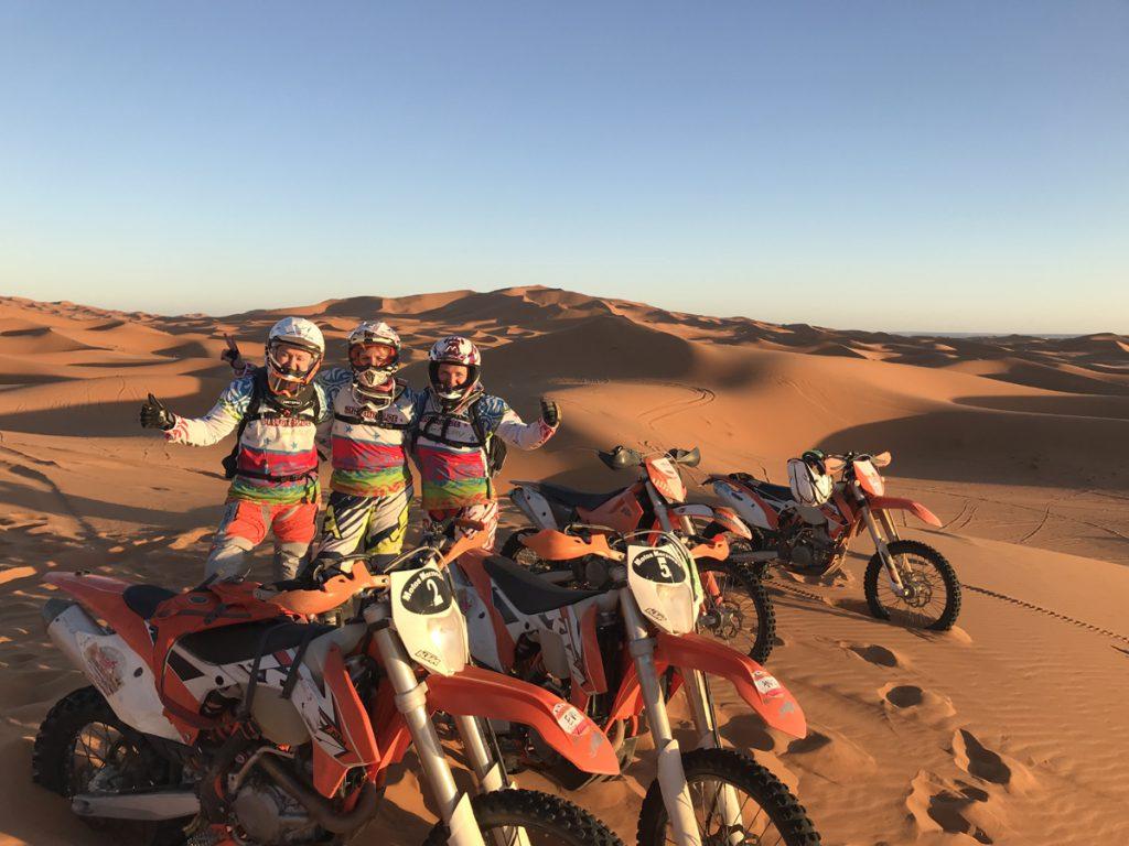Tina Meier Dirtgirls Offroadtraining Marokko in der Wueste