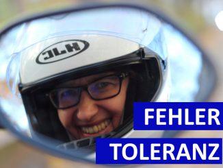 Fehlertoleranz beim Motorradfahren. Spiegelblick Sabines Motorrad-Kolumne