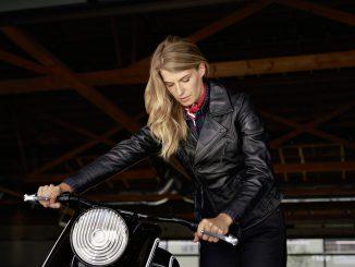 BMW Motorrad Heritage Kollektion Damen Lederjacke Flat Twin