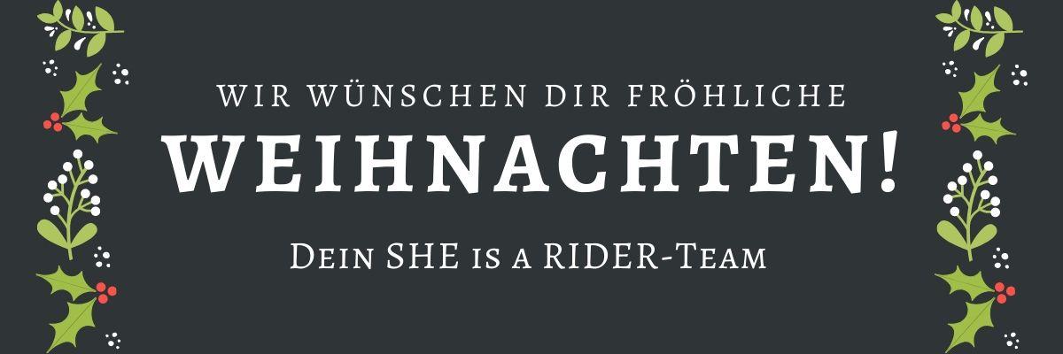 Motorrad Adventskalender 2019 - Fröhliche Weihnachtszeit wünscht SHE is a RIDER