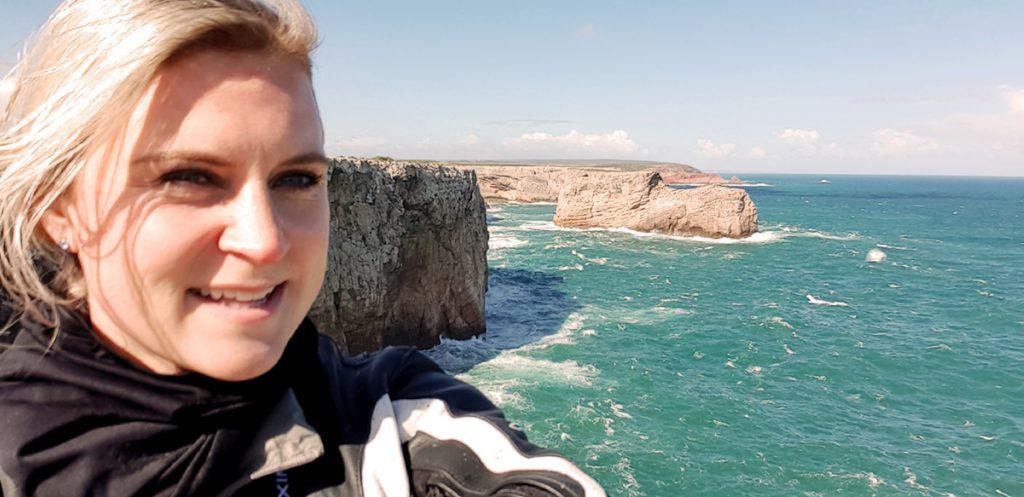 Motorradfahren Rowi auf Motorradtour durch Portugal.
