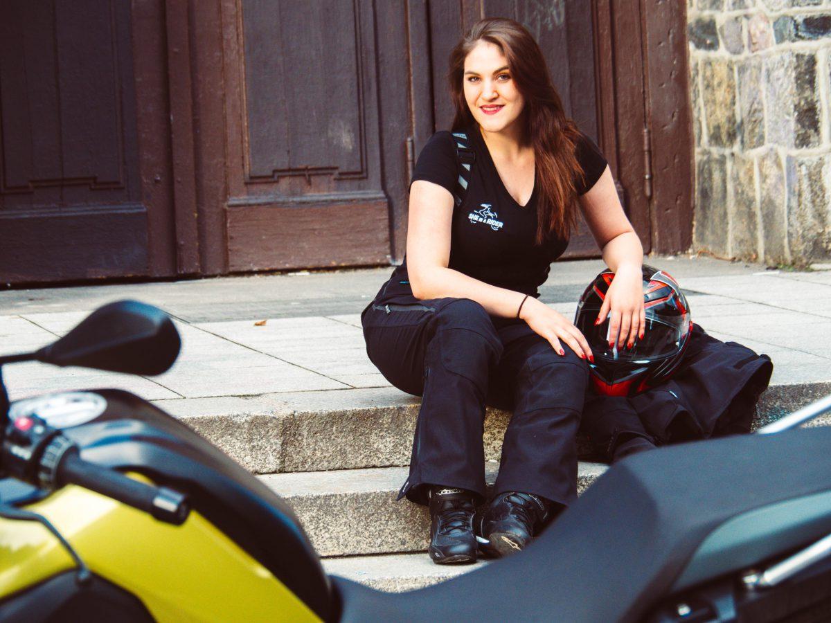 Motorrad Schutzkleidung Rukka Spektria. Motorradkombi Damen.