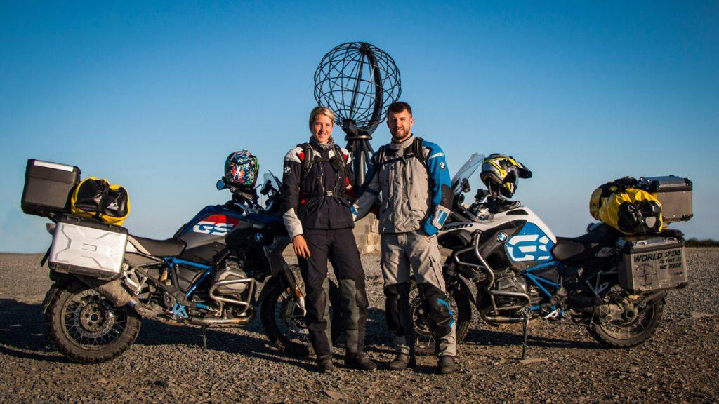 Verena auf Motorradtour zum Nordkapp
