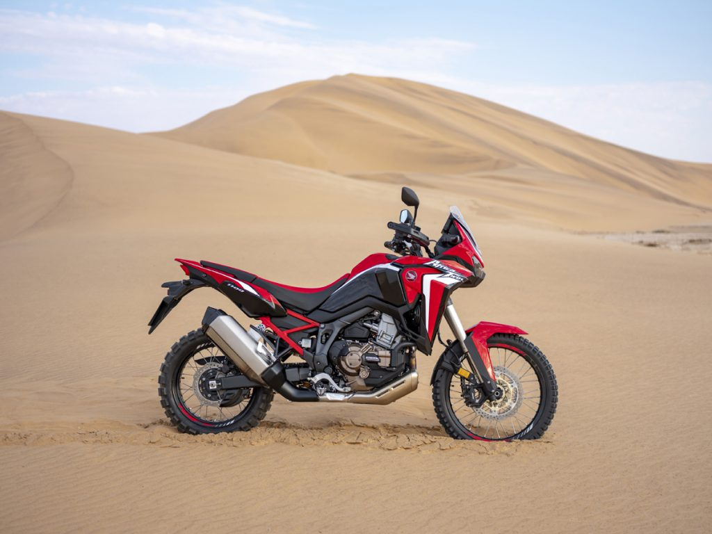 Honda Africa Twin in der Wüste