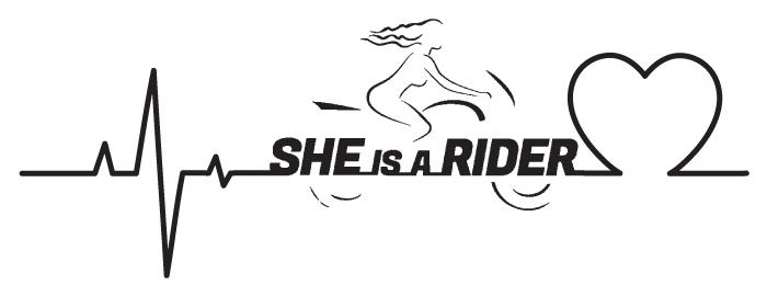 SHE is a RIDER - Unser Herz schlägt für Frauen die Motorradfahren.