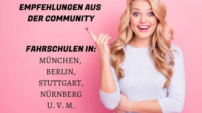 Mit Empfehlungen aus der SHE is a RIDER Frauen-Motorrad-Community die richtige Fahrschule in der Nähe finden. Fahrschule München, Berlin, Stuttgart u.v.m.