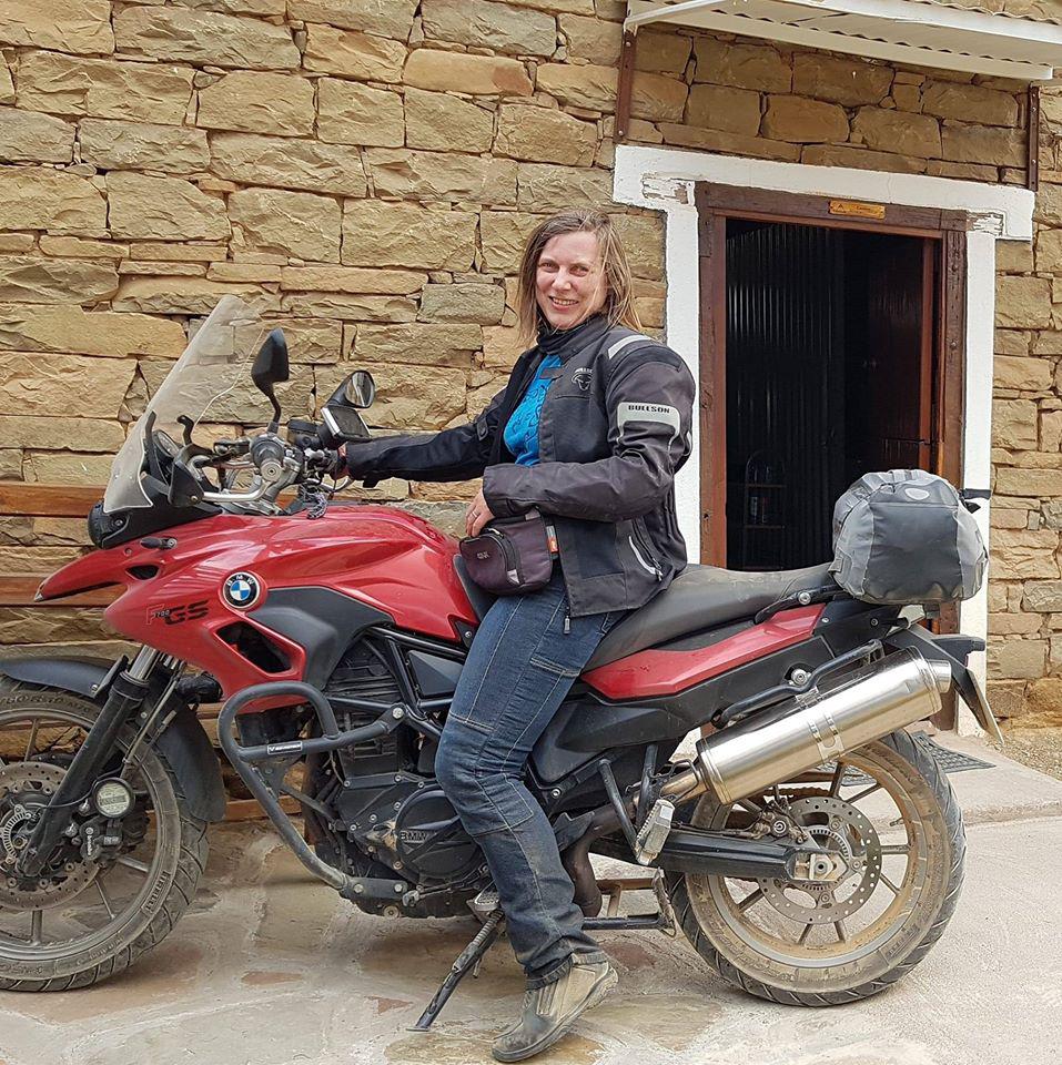 Motorradtour in Südafrika. Helmet Hair und BMW F800GS