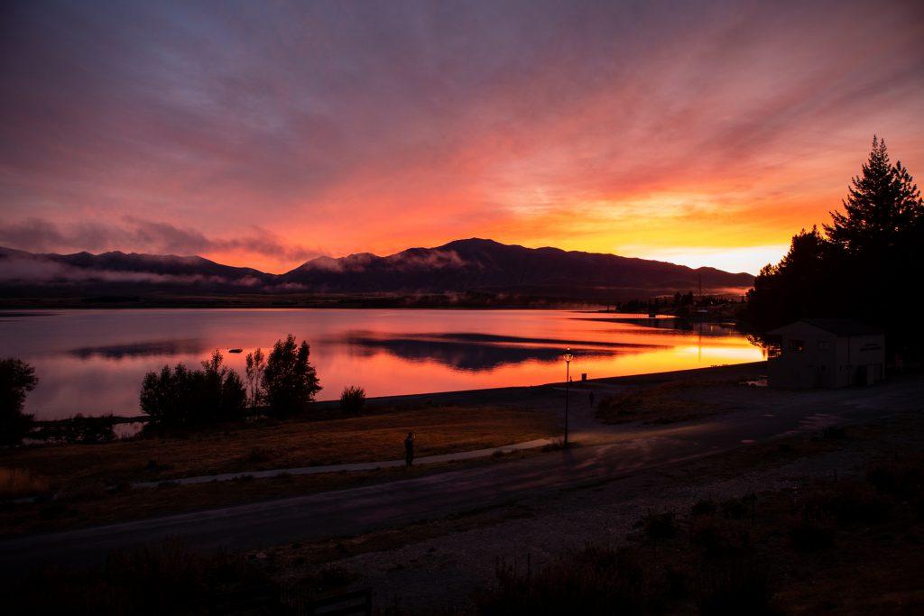 Neuseeland See im Sonnenuntergang