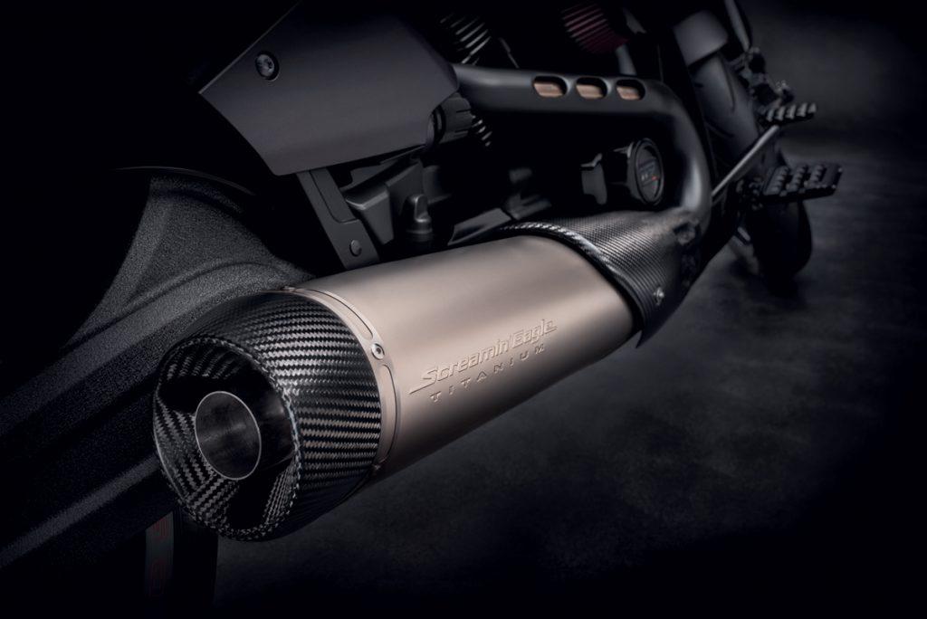 Harley-Davidson-Schalldämpfer in Chrom