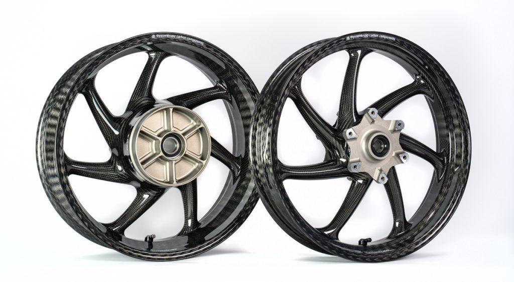 thyssenkrupp Carbonfelgen für insgesamt 5 verschiedene Suzuki-Motorräder.