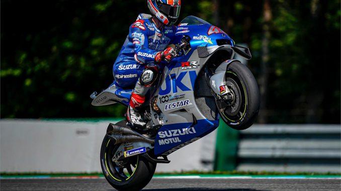 Moto GP Alex Rins Suzuki GSX-RR in Brno 2020