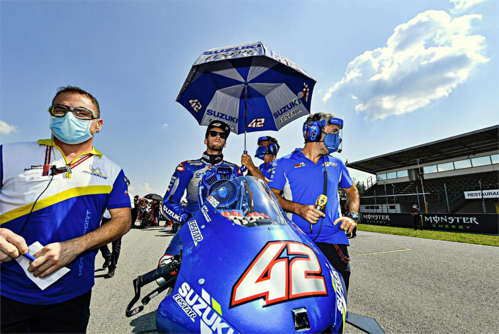 Alex Rins am Start in Brno zur Moto GP 2020