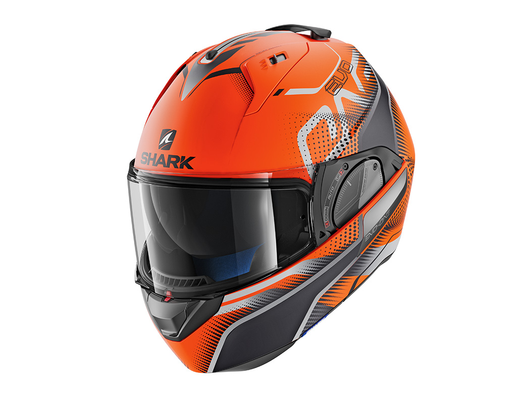 Klapphelm Shark Evo-One 2 in orange.