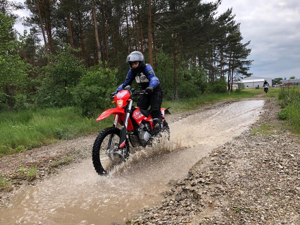 Motorradfahren Offroad Training Driving Area