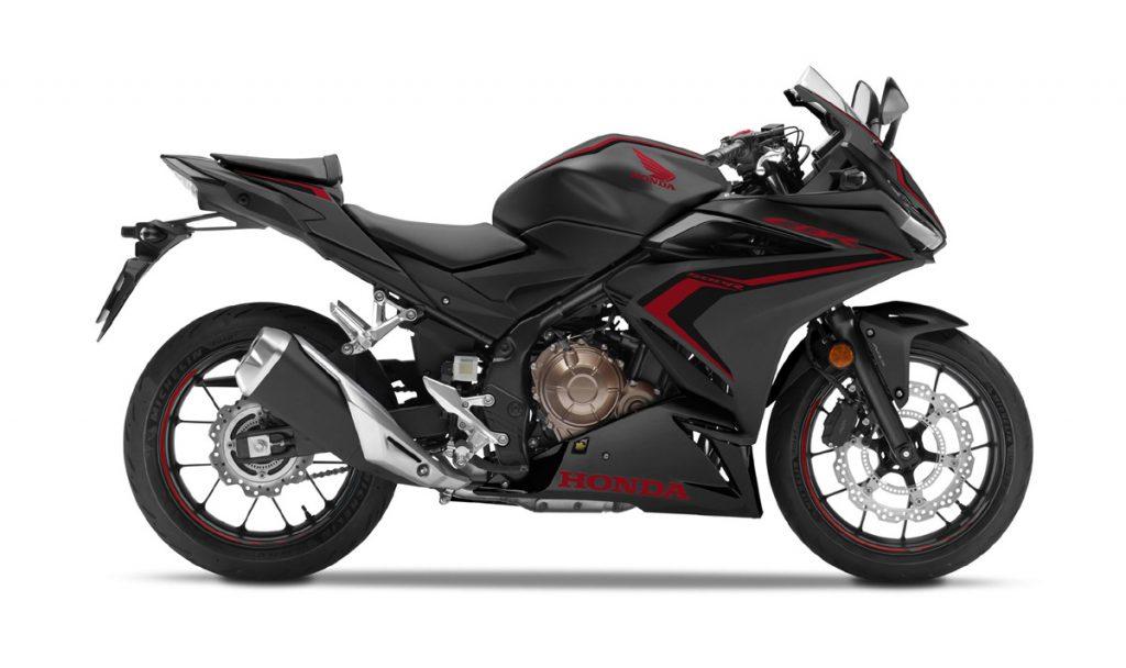Honda CBR500R in schwarz