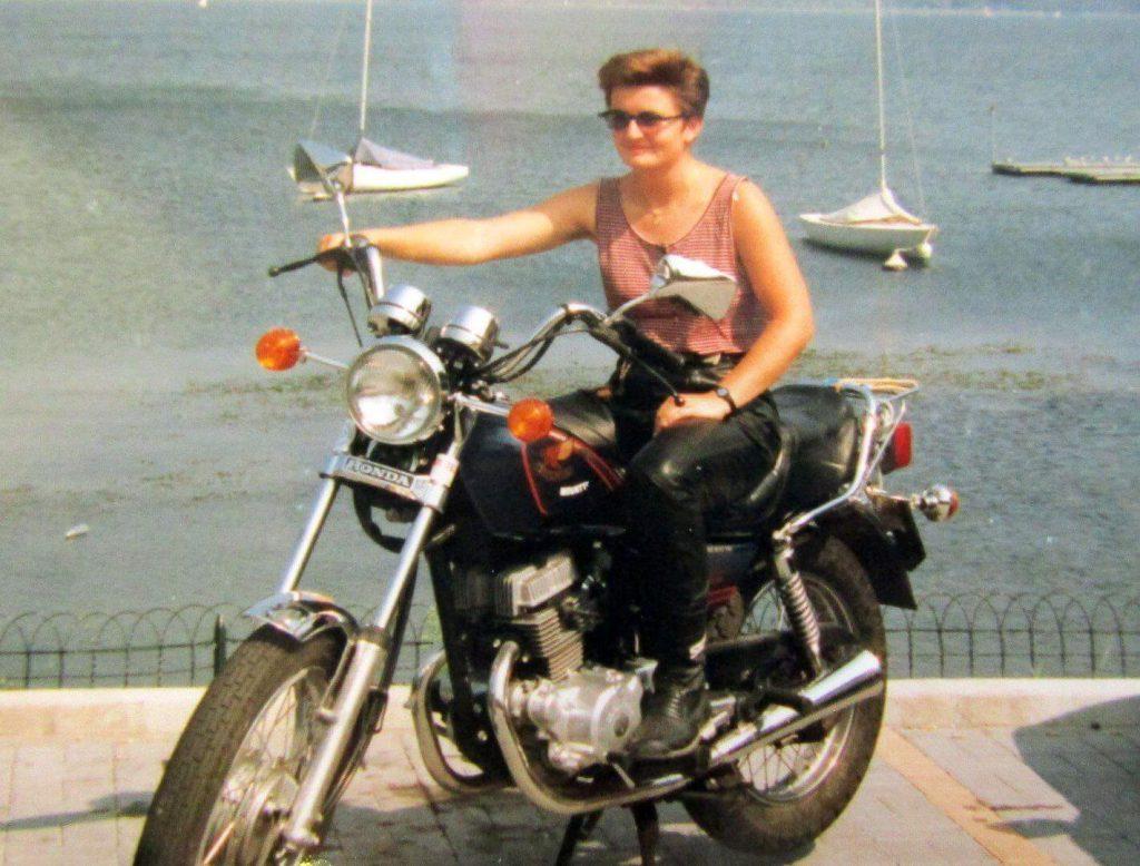 Judys erstes Motorrad 1990