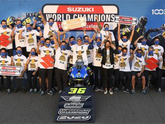 Joan Mir sichert sich mit seinem Team den Moto GP WM-Titel in der Saison 2020