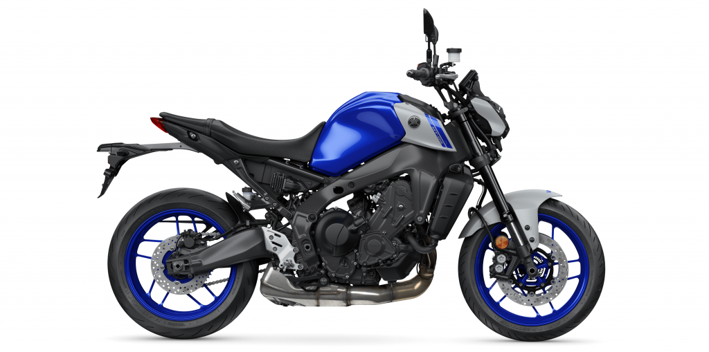 Yamaha MT09 Naked Bike in Icon Blue