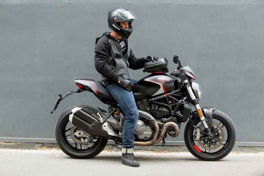 Ducati Hoodie mit Protektoren
