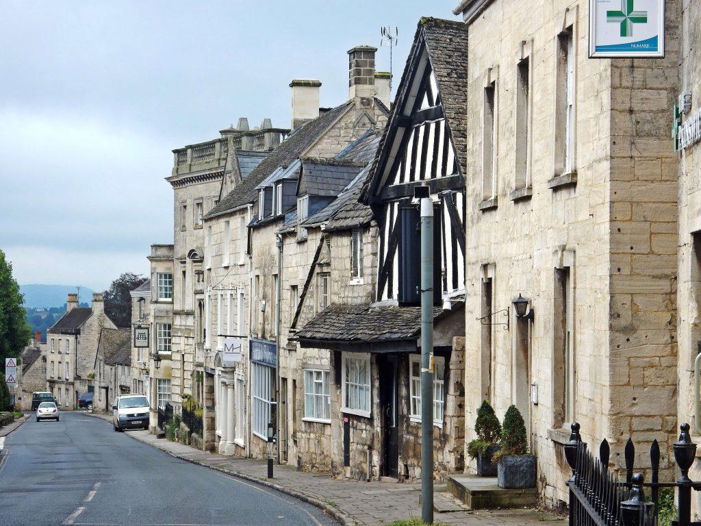England Straßenszene in Abergavenny