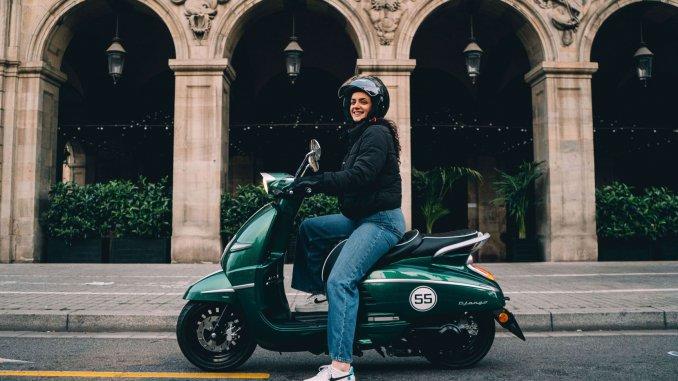 Mit dem Roller auf Reisen. z.B. Barcelona