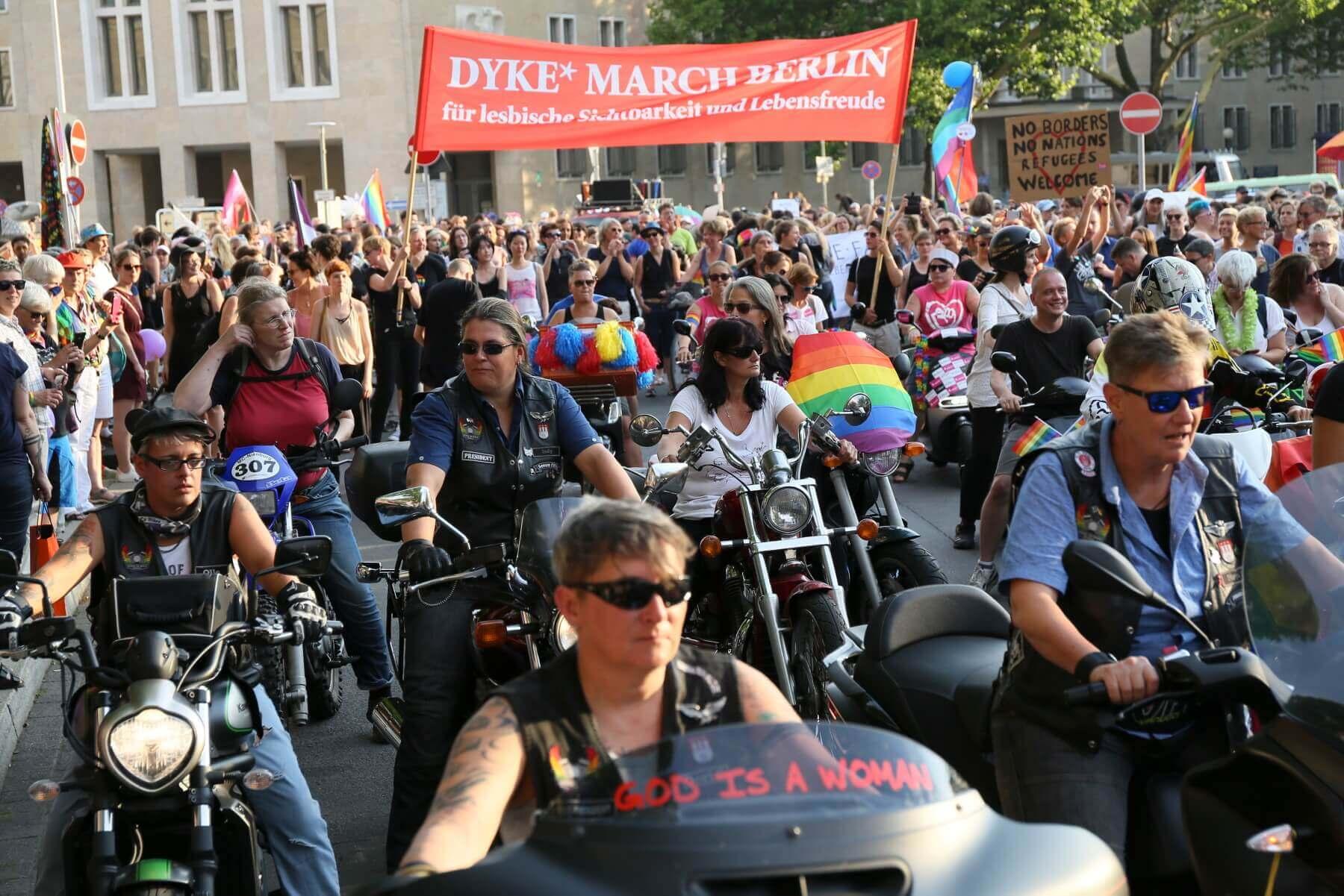 Dykes on Bikes in Berlin. Bild: Brigitte Dummer