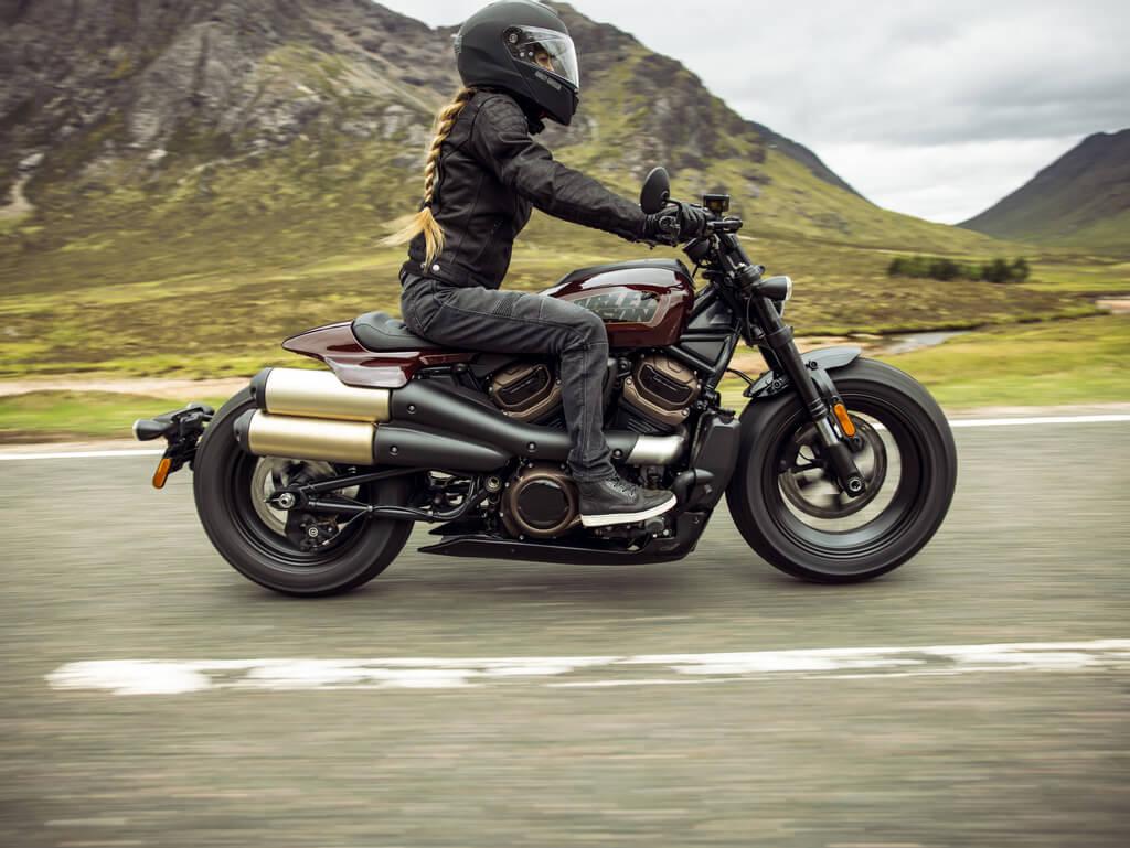 Zielgenaues Handling bei der Harley Davidson Sportster S